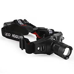 LED Lommelygter Pandelamper LED 210 Lumen 3 Tilstand Cree XR-E Q5 Batterier ikke inkluderede Justerbart Fokus Taktisk Komapkt Størrelse