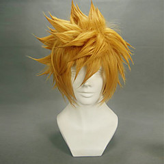 baratos -Perucas de Cosplay Kingdom Hearts Roxas Anime/Vídeo Games Perucas de Cosplay 35 CM Fibra Resistente ao Calor Homens