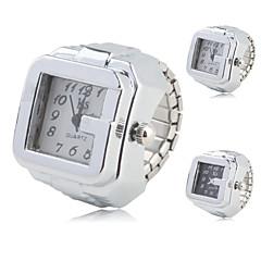 preiswerte Damenuhren-Damen Ringuhr Quartz Armbanduhren für den Alltag Legierung Band Analog Retro Modisch Silber - Weiß Schwarz Ein Jahr Batterielebensdauer / SSUO SR626SW