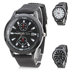 Unisex's Fabric Analog Quartz Wrist Watch (Black) Cool Watch Unique Watch Fashion Watch