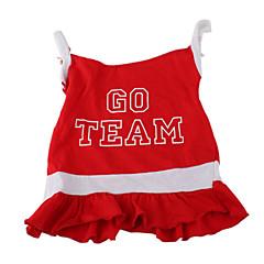 كلب الفساتين ملابس الكلاب الرياضات حرف وعدد أحمر
