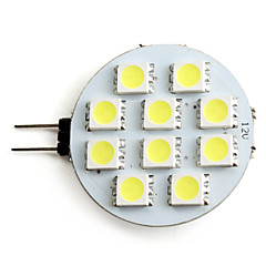 2W G4 LED Spotlight 10 SMD 5050 160lm Natural White 5500K DC 12V