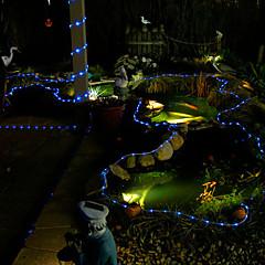 preiswerte LED Lichtstreifen-Leuchtgirlanden 100 LEDs LED Diode Blau Wasserfest / Dekorativ / Weihnachtshochzeitsdekoration 2 V 1pc / 1 set / IP44