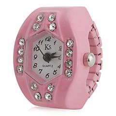preiswerte Tolle Angebote auf Uhren-Damen Quartz Ringuhr Japanisch Imitation Diamant Band Glanz Schwarz / Weiß / Rosa