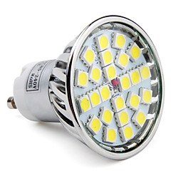 tanie Żarówki LED-6000lm GU10 Żarówki punktowe LED MR16 24 Koraliki LED SMD 5050 Naturalna biel 85-265V