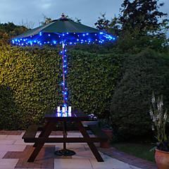 abordables Luces de Exterior-Solar de 100 luces LED azules de luz al aire libre de hadas de Navidad Decoración Lámparas