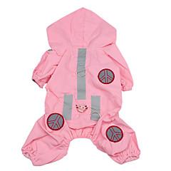 Câine Haină de ploaie Îmbrăcăminte Câini Impermeabil Solid Roz Costume Pentru animale de companie