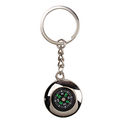 srebrny metal chłodny brelok kompas