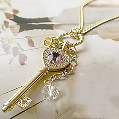 Women's Pendant Necklaces Crystal Alloy Heart Heart Gold Silver Jewelry Thank You Valentine