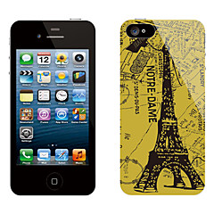 Rétro conception Eiffel Tower Autocollant Motif de protection pour iPhone 5