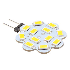 abordables Bulk Bombillas LED-1W 100-150lm G4 Luces LED de Doble Pin 12 Cuentas LED SMD 5630 Blanco Cálido 12V