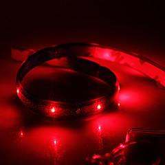 preiswerte LED Lichtstreifen-0,6 m Flexible LED-Leuchtstreifen 24 LEDs Rot Wasserfest 12 V / IP65