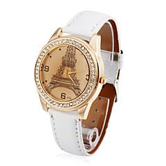 preiswerte Damenuhren-Damen Quartz Armbanduhr Modeuhr Armbanduhren für den Alltag Armbanduhren für den Alltag PU Band Armbanduhr Elegant Schwarz Weiß Rot Braun