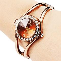 Mujer Reloj de Moda Reloj Pulsera Cuarzo Aleación Banda Destello Brazalete Elegantes Bronce