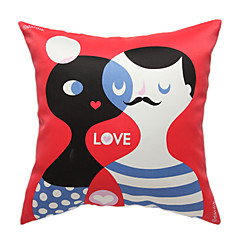 Love Story Print Decorative Pillow Cover