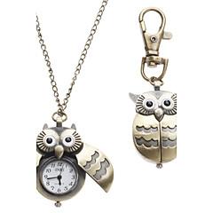 preiswerte Tolle Angebote auf Uhren-Damen damas Taschenuhr Uhr mit Schlüsselanhänger Halskettenuhr Quartz Bronze Analog Modisch - Bronze Ein Jahr Batterielebensdauer / SSUO LR626