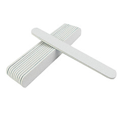 10PCS Straight Emery Nail Files(Assorted Colors)
