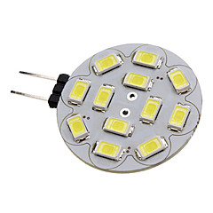 1.5W G4 LED Spotlight 12 LEDs SMD 5730 Natural White 6000lm 6000KK DC 12V