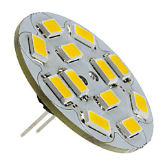 abordables Ampoules LED-1.5W 130-150 lm G4 Spot LED 12 diodes électroluminescentes SMD 5730 Blanc Chaud DC 12V