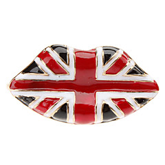 Punk Wind Flag Pattern Lippen doppelter Ring