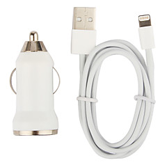 abordables Accesorios de Apple-Cargador de Coche con Cable con Iluminación de 100cm para iPhone 5, iPod (DC12-24V, 1A)
