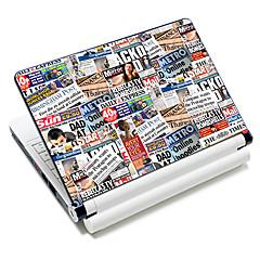 """""""Periódico"""" patrón portátil adhesivo protector para 10 """"/ 15"""" laptop 18586 (15 """"apto para debajo de 15"""")"""