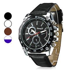 Heren Militair horloge Polshorloge Kwarts PU Band Zwart Wit Bruin Zwart Bruin Wit/Wit Wit / blauw