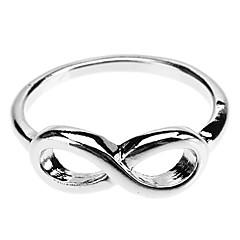 preiswerte Ringe-Damen Bandring - Aleación Unendlichkeit 8 Gold / Schwarz / Silber Für Alltag