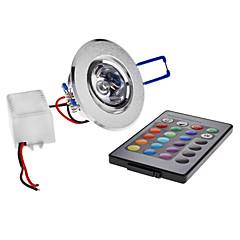 Χαμηλού Κόστους Φωτιστικά Εσωτερικού Χώρου-180 lm Φωτιστικό Οροφής Χωνευτή εγκατάσταση 1 leds LED Υψηλης Ισχύος Τηλεχειριζόμενο RGB AC 85-265V