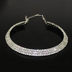 Dam Chokerhalsband Kristall Zircon Bergkristall Legering Mode kostym smycken Smycken Till Party