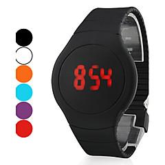 billige Digitalure-Herre Armbåndsur Digital LED Touchscreen Kalender Silikone Bånd Sort Hvid Rød Orange Grøn Lilla