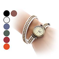 Damskie Modny Zegarek na bransoletce Japoński Kwarcowy Pasmo Postarzane Bransoletka-KółkoCzarny Biały Niebieski Czerwony Pomarańczowy