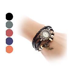 Damen Armband-Uhr Armbanduhren für den Alltag Quartz Band Heart Shape Böhmische Schwarz Blau Rot Orange Grün