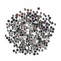 1000PCS Praça Shaped Rhinestone Nail Art Decoração 2 milímetros Transparente