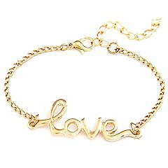 preiswerte Armbänder-Damen Ketten- & Glieder-Armbänder - Liebe Inspirationen Armbänder Schmuck Schwarz / Golden Für Hochzeit Party Alltag