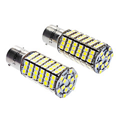 cheap LED Car Bulbs-Sencart 1156/BA15S 7W 6000-6500K 480LM 120x3528SMD LED White Light Bulb (DC 12V, 1-Pair)