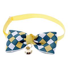 お買い得  犬用首輪/リード/ハーネス-ネコ 犬 カラー ボウタイ ベル ナイロン イエロー Brown ブルー ピンク