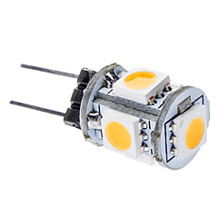 0.5W G4 LED Corn Lights T 5 leds SMD 5050 Warm White 3000lm 3000KK DC 12V
