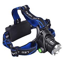 Lanternas LED Lanternas de Cabeça LED 1000 Lumens 3 Modo Cree XM-L T6 para Campismo / Escursão / Espeleologismo Uso Diário Ciclismo Caça