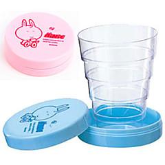 abordables Tazas y vasos-taza telescópica plegable plegable portátil de la historieta linda que bebe el regalo de cumpleaños de la taza del bebé del viaje