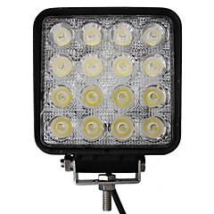 abordables Iluminación para Vehículos Industriales-48W 16 LED de luz de trabajo Square