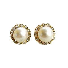 お買い得  イヤリング-女性用 スタッドピアス  -  真珠, イミテーションダイヤモンド シンプルなスタイル, ファッション 用途 パーティー / 日常
