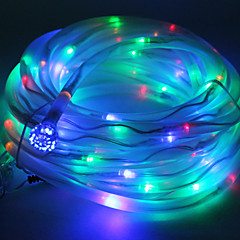 お買い得  LED アイデアライト-多色ソーラーチューブロープ100 LEDストリングライトランプガーデンパーティーの装飾