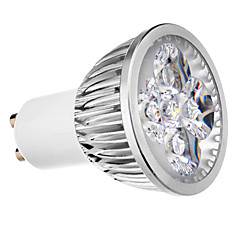 4W GU10 LED Spotlight 4 leds Warm White Cold White 400lm 3500/6000K AC 220-240V