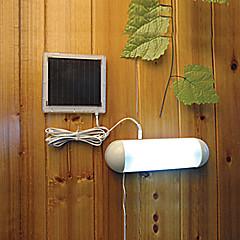 preiswerte Ausgefallene LED-Beleuchtung-5 führte im Freien solarbetriebene Plattengartenweg-Wandschuppenzaunyardlichtlampe Dachgesimszaunyardarbeitslichtlampe