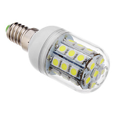 E14 LED Corn Lights T 30 leds SMD 5050 Cold White 390-420lm 6000K AC 220-240V