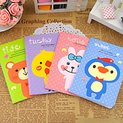 Fehér Dot Animal kis notebook (Random Color)