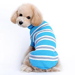 halpa -Kissa Koira Neulepaidat Koiran vaatteet Rento/arki Pidä Lämmin Raita Sininen Asu Lemmikit