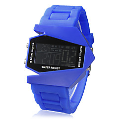 Unisex Jet Aircraft LED Digital Dial Silicone Band Wrist Watch (Assorted Colors) Cool Watch Unique Watch