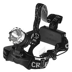 3 Headlamps Headlight LED 1600 lm 1 Mode Waterproof for Camping/Hiking/Caving Cycling/Bike Fishing Working Climbing